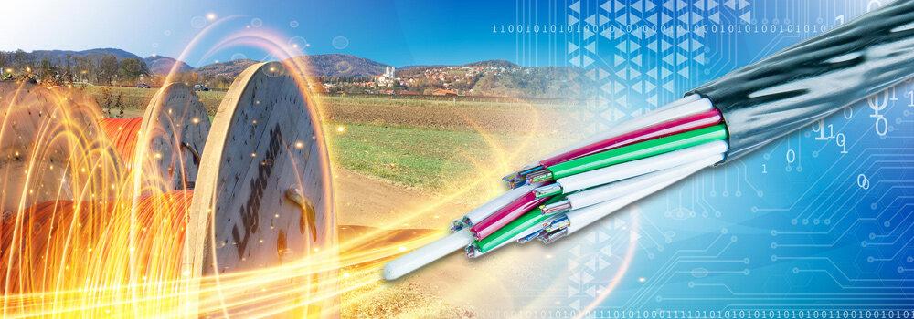 Neue Generation von Glasfaserkabel für den FTTx Bereich
