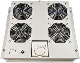 Wirewin Dachlüftereinsatz für Serverschränke, 4 Lüfter, grau