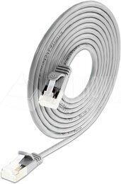Wirewin KAT6A 10 Gigabit Lightpatchkabel rund, U/FTP, Ø 3,8mm, weiss