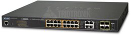 PLANET 16Port 10/100/1000 Ultra PoE +4Port Gbit SFP managed Switch