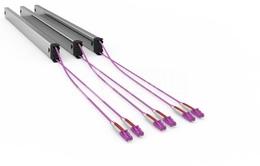 PATCHBOX® PATCHBOX®Plus+ Kassette mit HQ Duplex LWL Patchkabel, 2,7m, MM OM4, LC - LC