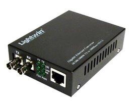 Lightwin Gigabit Medienkonverter 1000Base-SX Singlemode, ST, 20KM