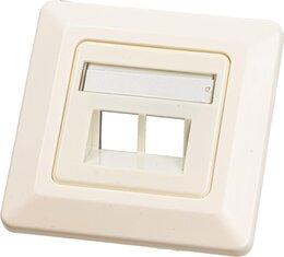 Wirewin Keystone Leerdose für 2 Module, Unterputz, Schalterprogramm-fähig, RAL9010