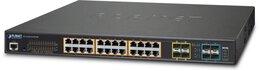 PLANET L2+/L4 24Port Gbit + 4Port Shared SFP + 4Port 10G SFP+ managed Switch, 400W PoE