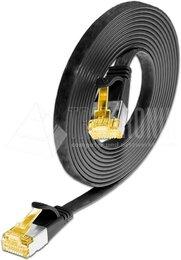 Wirewin KAT6A 10 Gigabit Slimpatchkabel, U/FTP, flach, schwarz