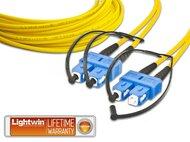 High Quality Duplex LWL Patchkabel, SM, SC - SC