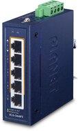 Industrial 4-Port Gbit 802.3at  PoE + 1-Port 10/100/1000T Switch, -40°C - +75°C