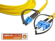 High Quality Duplex LWL Patchkabel, SM, LC - SC