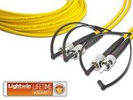 High Quality Duplex LWL Patchkabel, SM, ST - ST