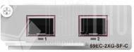 2-Port 10GBit Ethernet SFP+ optische Erweiterungskarte