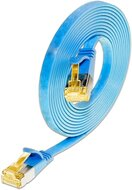 KAT6A 10 Gigabit Slimpatchkabel, U/FTP, flach, blau