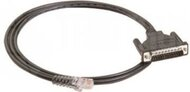 8pin RJ45 to male DB25 connection cable, 150cm, for
