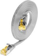 KAT6A 10 Gigabit Slimpatchkabel, U/FTP, flach, grau