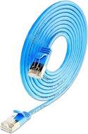 KAT6 Lightpatchkabel rund, U/FTP, Ø 3,8mm, blau