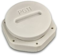 PG11 Blindverschraubung, PVC, hellgrau