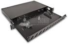ECONOMY 19 Zoll LWL Verteilerlade für 24x Duplex SC/Quad LC