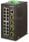 Industrial L2+  16Port Gbit + 4x SFP managed Switch (IP30)