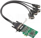 4-port RS-232 PCI Express Serial Board, Low Profile