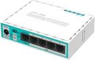 hEX lite mit 850MHz CPU, 64MB RAM, 5 LAN Ports, RouterOS L4, Plastik Gehäuse