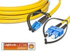 High Quality Flat-Duplex LWL Patchkabel, SM, LC - SC