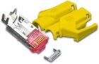 RJ45 KAT6 TM21 Stecker inkl. Knickschutztülle, gelb, 10-Pack