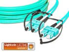 High Quality Flat-Duplex LWL Patchkabel, MM OM3, SC - SC
