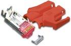RJ45 KAT6 TM21 Stecker inkl. Knickschutztülle, rot, 10-Pack