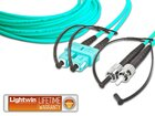 High Quality Duplex LWL Patchkabel, MM OM3, SC - ST