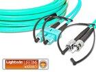 High Quality Flat-Duplex LWL Patchkabel, MM OM3, SC - ST