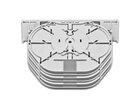 Spleissmodul für LFC Muffen mit 6 Compact Tray Kassetten (CT), max. 72 Fasern, C
