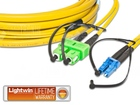 High Quality Flat-Duplex LWL Patchkabel, SM, SC/APC - LC, 3.0 Meter