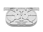 Spleissmodul für LFC Muffen mit 2 Single Circuit Kassetten (SC), max. 8 Fasern,