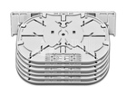 Spleissmodul für LFC Muffen mit 6 Single Circuit Kassetten (SC), max. 24 Fasern
