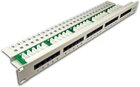 25-Port ISDN Panel, 1HE, lichtgrau
