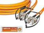 High Quality Flat-Duplex LWL Patchkabel, MM OM1, SC - SC