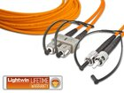 High Quality Duplex LWL Patchkabel, MM OM1, SC - ST