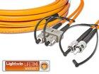 High Quality Flat-Duplex LWL Patchkabel, MM OM1, SC - ST