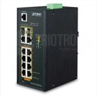 Indust. 8Port Gbit PoE(at) + 2Port Gbit + 2Port SFP Switch