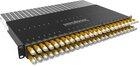 PATCHBOX®Plus 365 mit 24 PATCHBOX® Kassetten/Patchkabel, U/FTP, 0,8m, gelb