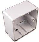 Universalaufputzrahmen für Datendosen, RAL9010 reinweiß