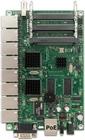 RB493G mit 680MHz Atheros CPU, 256MB RAM, 9xGbit, 3x miniPCI, RouterOS L5