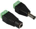Strom-Adapter Set DC-Buchse und DC-Stecker, 2.1x5.5mm auf Schraubklemme
