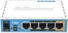hAP mit 650 MHz CPU, 64 MB RAM, 5x LAN, 2.4 GHz 802.11b/g/n