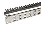 High Quality 24-Port Leerpanel für Keystone Module, 1HE, Nickel