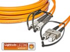 High Quality Flat-Duplex LWL Patchkabel, MM OM2, FC - SC