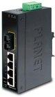 IP30 Slim Type 4-Port Industrial Switch + 1x 100FX SFP