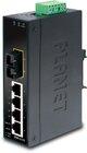 IP30 Slim 4-Port Industrial Ethernet Switch + 1Port FX SFP