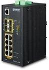 Industrial 8-Port Gbit 802.3at PoE + 4x SFP managed Switch, IP30, -40°C - 75°C