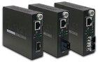 10/100/1000BaseT to WDM Bi-directional Fiber Converter 15km