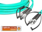 High Quality Flat-Duplex LWL Patchkabel, MM OM3, FC - ST